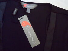 BNWT Designer *Gharani Strok* Black Midi / Dip Front Dress Size UK 8 / EUR 34