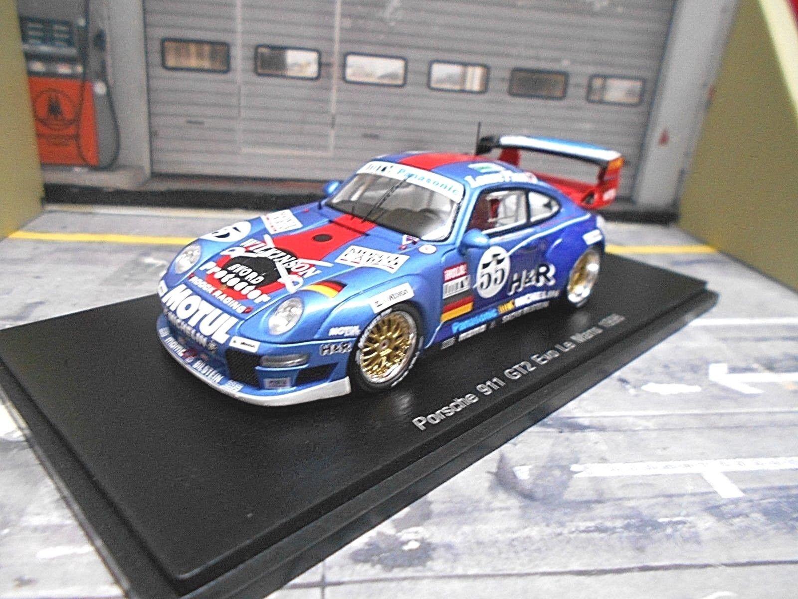 PORSCHE 911 993 gt2 Le Mans 1996  55 Jarier Pareja h&r winkinson SPARK 1 43