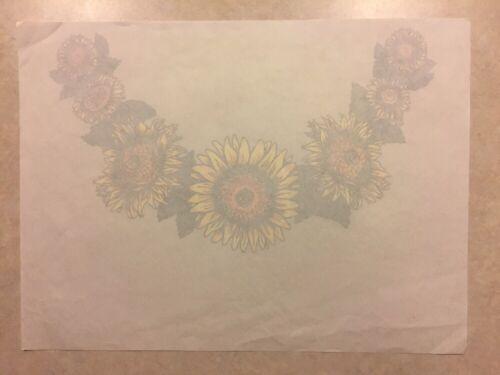 Vintage T-Shirt Heat Transfer Sunflower Collar