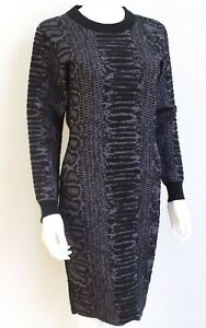 New-Lanvin-pre-fall-2014-Snake-Black-Print-Stretch-Kint-Dress-S-uk-8-10