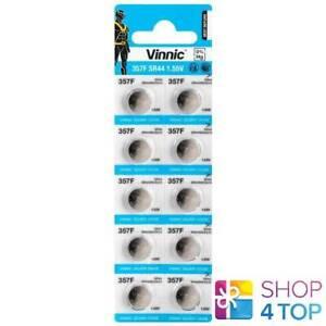 10-VINNIC-357-SR44-BATTERIES-SILVER-OXIDE-1-55V-WATCH-BATTERY-EXP-2024-NEW