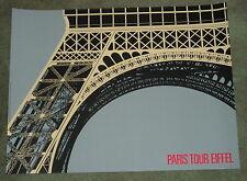 PARIS - TOUR EIFFEL: ORIGINAL LITHOGRAPHIC POSTER BY ALBERTO BALI, 1985