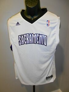 NEW-Minor-Flaw Sacramento Kings Youth L Large (14/16) Adidas Team Blank Jersey