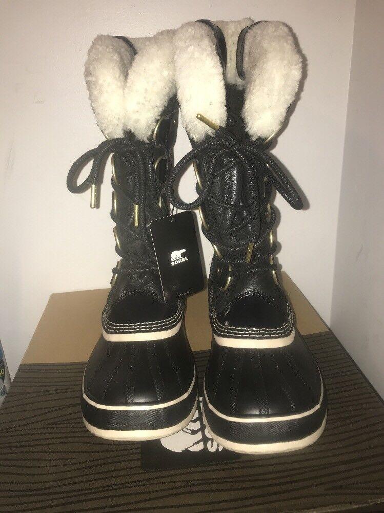 Neu in Box Sorel Damen Joan Of Arktischen Holiday Stiefel - Schwarz - Größe 6 -