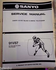 SANYO Vintage Original Black and White Television 91V87 Service Manual