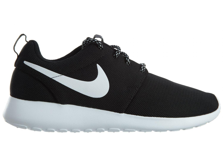 Nike Roshe One Womens 844994-002 Black White Mesh Running Shoes Wmns Size 9