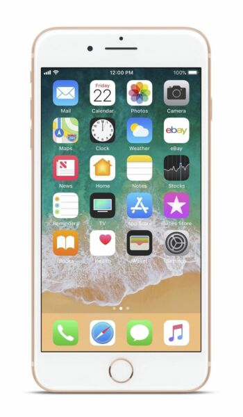 apple iphone 8 plus 64gb gold unlocked a1897 gsm. Black Bedroom Furniture Sets. Home Design Ideas