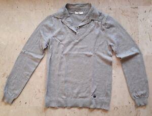 ad43bdcf7e94b TBS pull 2 en 1 manches longues gris, col chemise rayé gris et blanc ...