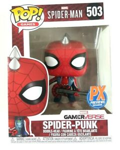 Funko Pop #503 MARVEL SPIDER-MAN GAMERVERSE SPIDER-PUNK Bobble Head PX Exclusive