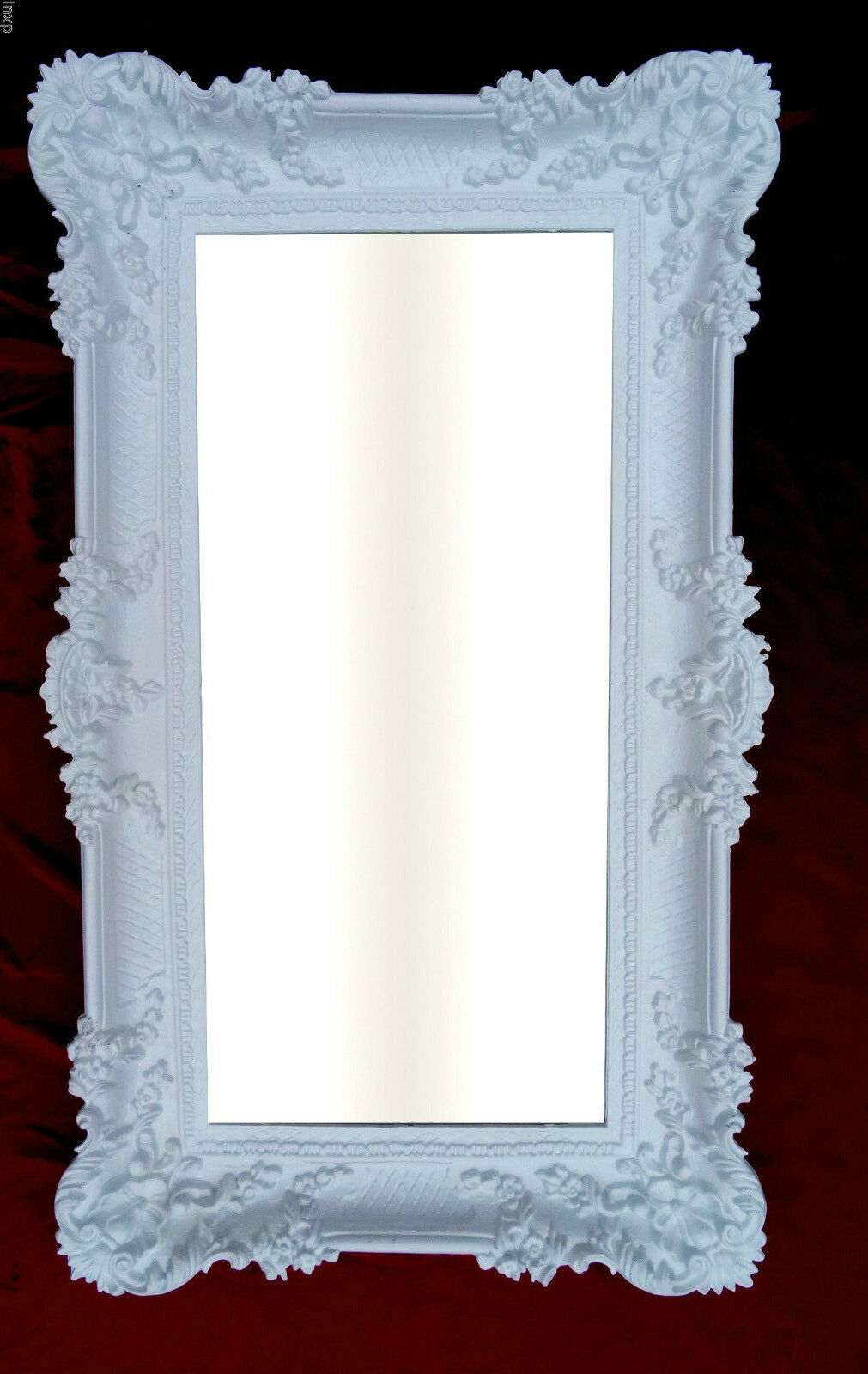 Miroir Mural Blanc Bad-FRISEUR-Bar Baroque Antique 97x57 Big salle de bain