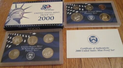 1999 to 2004 Proof Set 99 2000 2001 2002 2003 2004 Proof set 6 sets Box /& COA