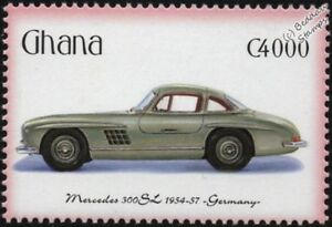 1954-1957 Mercedes-benz 300sl Comme Neuf Automobile Voiture Timbre (2001 Ghana)