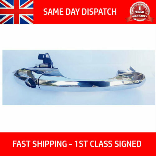 FITS FIAT 500 LOUNGE ABARTH OFFSIDE RIGHT CHROME DOOR HANDLE 735592012 RHD-UK