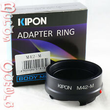 Kipon Zeiss M42 mount screw lens to Leica M L/M Adapter M9 M-E 240 Ricoh GXR A12