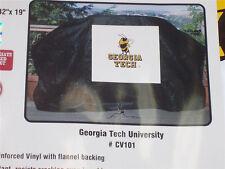 Georgia Tech Yellow Jackets Black Gas Grill Cover logo (Weber, etc). 59 X42 X19'