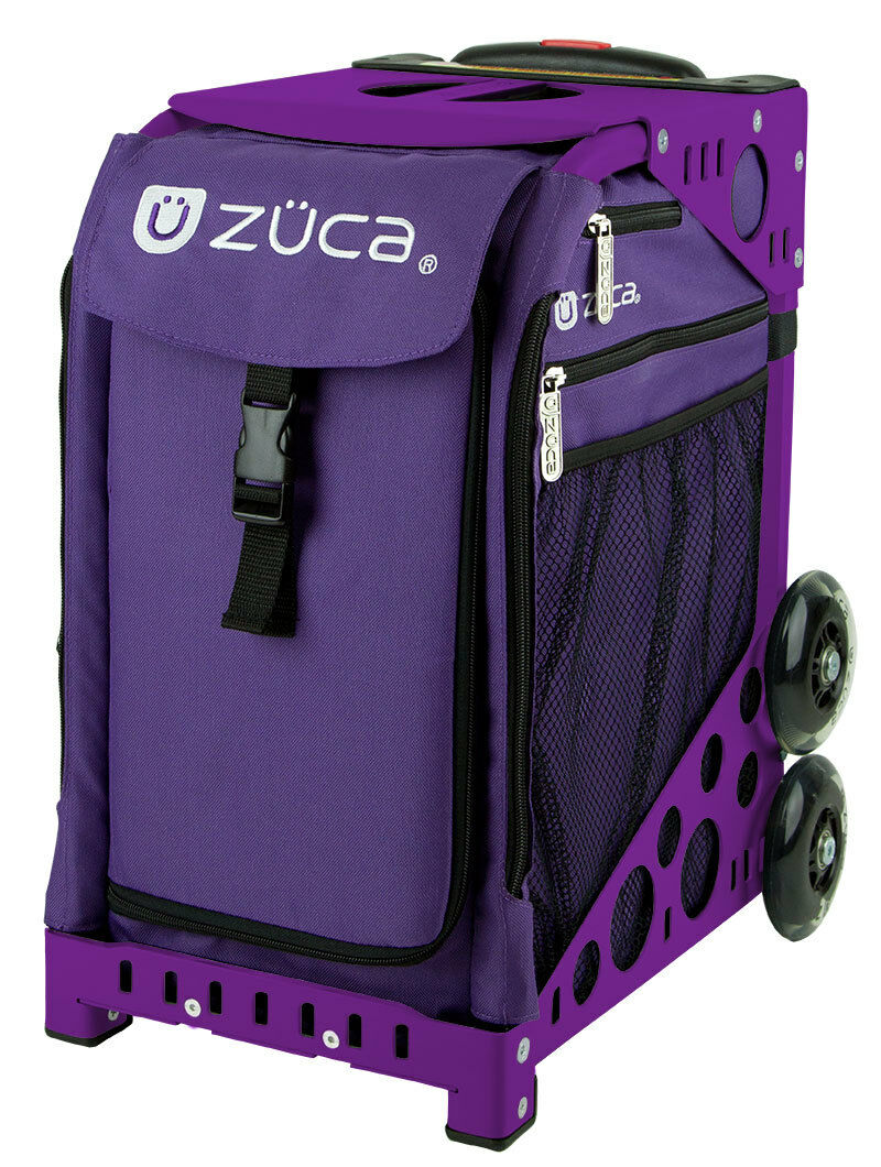 ZUCA Bag REBEL Insert & Purple Frame w Flashing Wheels - FREE SEAT CUSHION