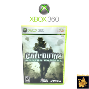 Call-of-Duty-4-Modern-Warfare-2007-Xbox-360-Game-Disc-Case-Manual-Tested-Works