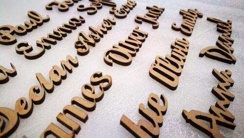 Secuencia de comandos nombres letras palabras Mdf Personalizado Libro De Arte De Madera Madera 20 fuentes!!!