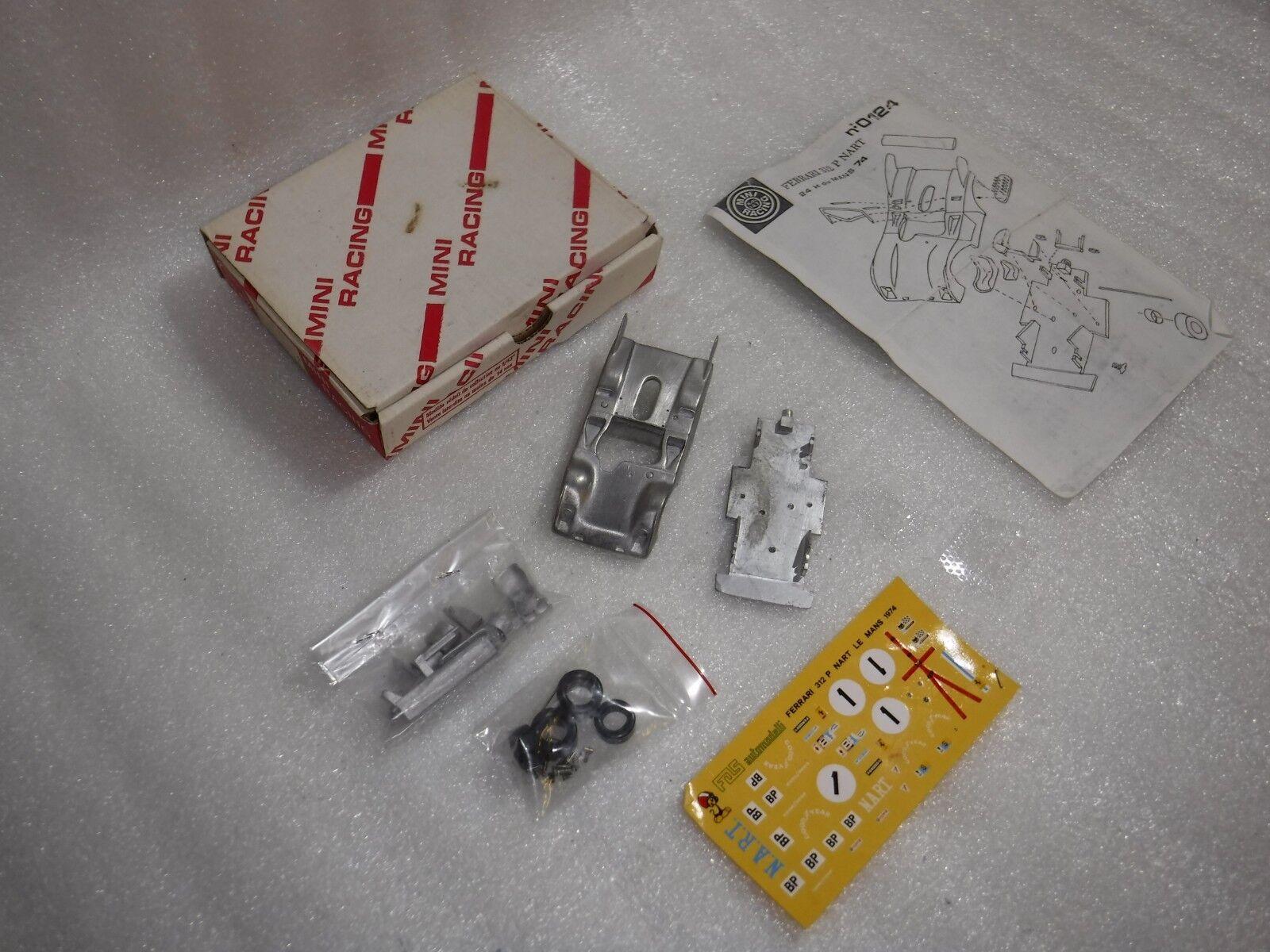 Vintage Mini Racing No 0124  Metal Build Kit Ferrari 312P Spyder Nart 74  Boxed