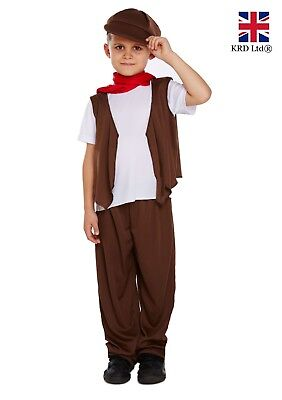 Boys VICTORIAN CHIMNEY SWEEP Costume Kids Child Book Week Fancy Dress Outfit UK
