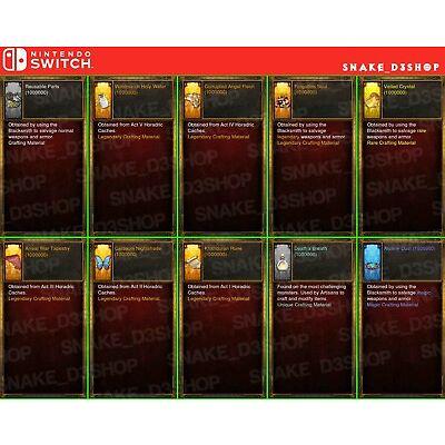 Diablo 3 Nintendo Switch - Bundle - Crafting Materials for Kanai's Cube - 1M