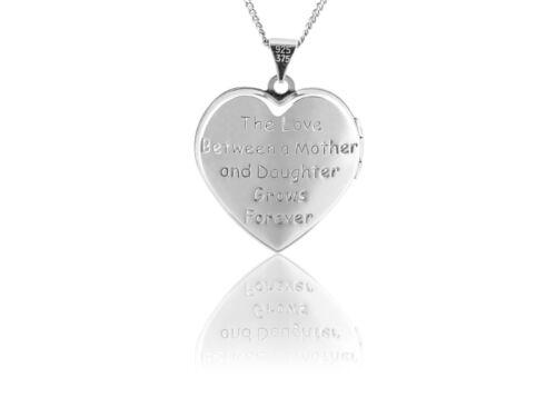 "Corazón de plata esterlina mamá Medallón con 144 Cubic Zirconia Cadena 18/""//45cm"