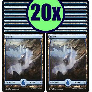 20x ISLAND 257 Full Art Basic Land NM/LP MTG Magic Battle for Zendikar