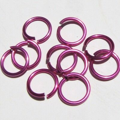 PINK Anodized Aluminum JUMP RINGS 250 7//32 16g SAW CUT Chainmail chain mail