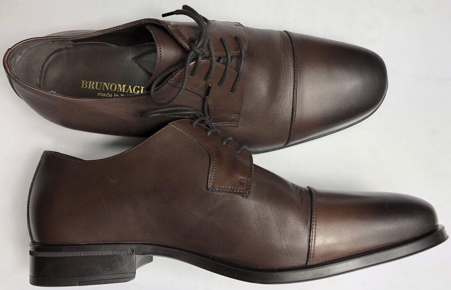 Bruno Magli Men's Cap Toe Dress Oxford Hand Burnished Leather scarpe MN2903 10.5