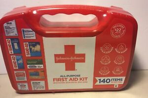 NEW!! Johnson & Johnson All-Purpose Portable Compact First Aid Kit, 140 Pieces