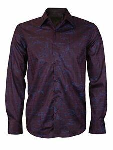 Men-039-s-Western-Long-Sleeve-Stylish-Metallic-Modern-Cowboy-Rodeo-Dress-Shirt