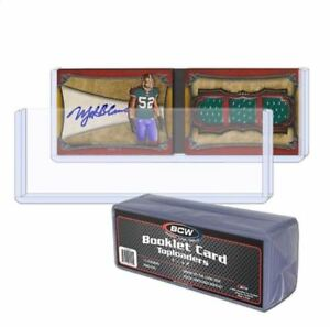 (30) BCW Booklet Card Toploaders - Book Card Topload Holders 7 3/8 x 2 1/2 Case