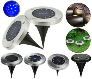 12-LED-Solar-Power-Ground-Lights-Floor-Decking-Outdoor-Garden-Lawn-Path-Lamp-UK