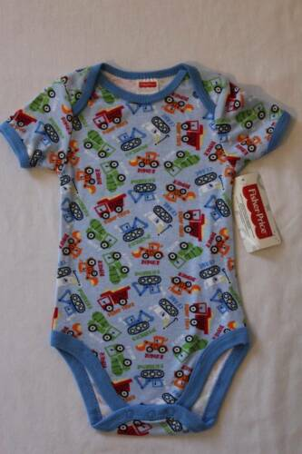 NEW Baby Boys Bodysuit 6-9 Months Backhoe Creeper Outfit 1 Piece Dump Truck