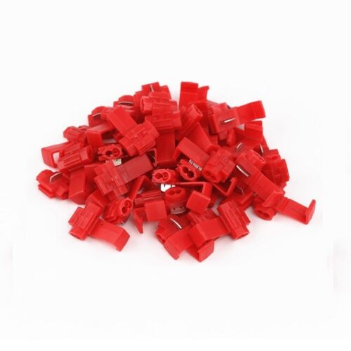 Pack 10 Red Scotchlock Type Self Stripping Connector 0.5-1.0mm Cable
