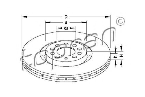 Front Axle Brake Disc 2pcs Fits AUDI A3 TT SEAT SKODA Octavia VW Bora 96