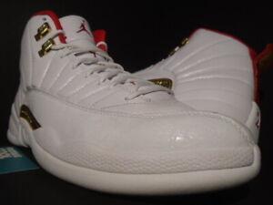 Nike Air Jordan Xii 12 Retro Fiba China Cny White Red Gold Bred