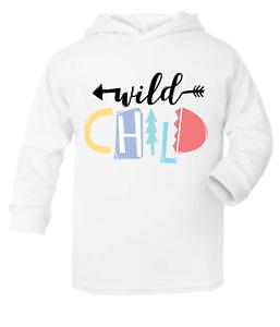 Wild Child Bambini Ragazzi Felpa Con Cappuccio Felpa Con Cappuccio Vestiti Tops Moda Ragazze Top preventivo