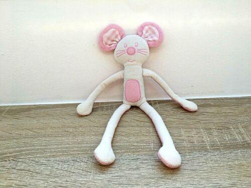 KIK OKAY  Maus blau  rosa  Schlenker  Schmusetier Kuscheltier Stofftier