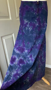 Clove-Jeans-Stretch-Denim-Maxi-Skirt-Purple-Tie-Dye-Uk-22