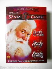 Tim Allen Disney THE SANTA CLAUSE Trilogy Three 3 Movie Collection DVD Box Set