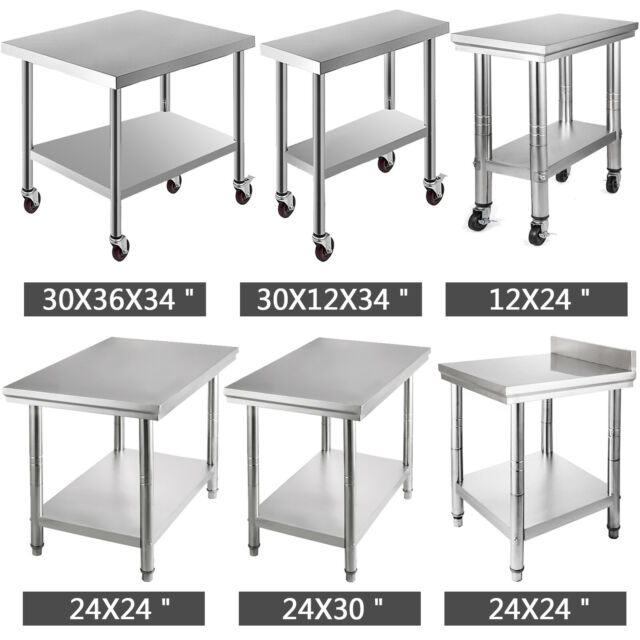 Awesome 11 Style Stainless Steel Work Prep Table Kitchen Restaurant Unemploymentrelief Wooden Chair Designs For Living Room Unemploymentrelieforg