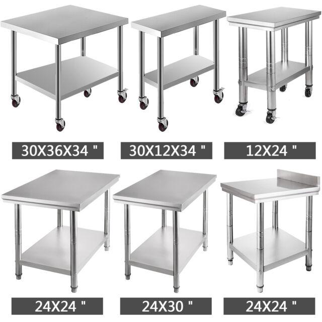11 Style Stainless Steel Work Prep Table Kitchen Restaurant