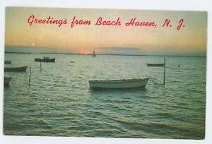 Image Is Loading Greetings From Beach Haven Nj Vtg Long
