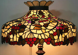 Chicago mosaic leaded stained glass lamp shade cherry tree tiffany image is loading chicago mosaic leaded stained glass lamp shade cherry audiocablefo