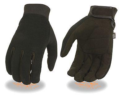 Men's Mechanic's Gloves w/ Amara Padded Gel Palm w/ Velcro Closure SH446-12