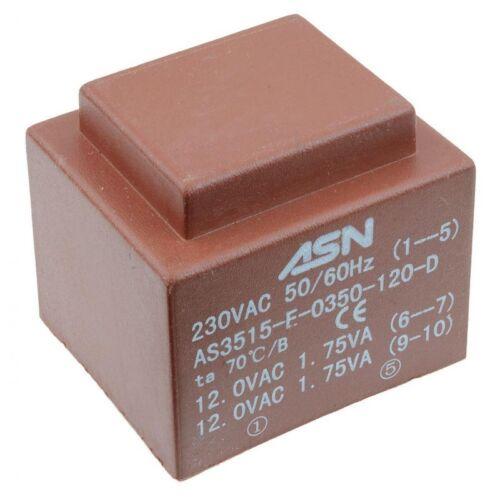 0-15V 0-15V 3.5VA 230V Encapsulated PCB Transformer