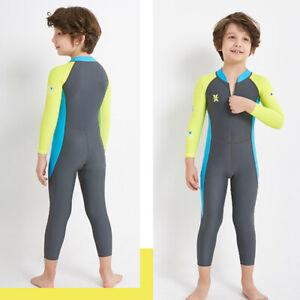 Dive-amp-Sail-Dark-Long-Sleeve-Wetsuit-Kids-One-Piece-Swimsuit-Diving-Suit-Boys-E2F8