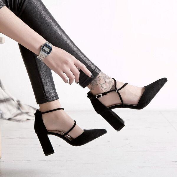 Holzschuhe hausschuhe 9 cm elegant quadrat schwarz absatz quadrat elegant Sandale simil leder 3ef3df
