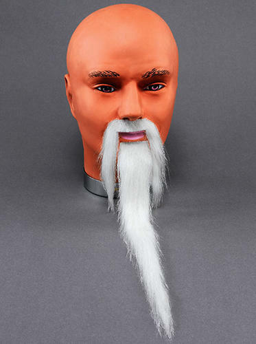 Assistant blanc barbe et moustache Set robe fantaisie